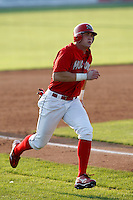 August 16, 2009:  Outfielder Jon Edwards of the Batavia Muckdogs during a game at Dwyer Stadium in Batavia, NY.  The Muckdogs are the Short-Season Class-A affiliate of the St. Louis Cardinals.  Photo By Mike Janes/Four Seam Images