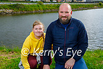 Emily and Andreas Rola enjoying a stroll on the Canal walk on Saturday evening.