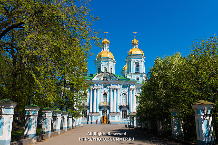 St. Nicholas Naval Cathedral in St. Petersburg, Russia