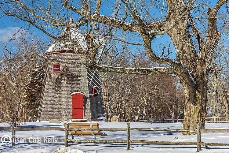 The Eastham Windmill in Eastham, Cape Cod, Massachusetts, USA
