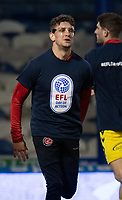 Fleetwood Town during the pre-match warm-up <br /> <br /> Photographer David Horton/CameraSport<br /> <br /> The EFL Sky Bet League One - Portsmouth v Fleetwood Town - Tuesday 10th March 2020 - Fratton Park - Portsmouth<br /> <br /> World Copyright © 2020 CameraSport. All rights reserved. 43 Linden Ave. Countesthorpe. Leicester. England. LE8 5PG - Tel: +44 (0) 116 277 4147 - admin@camerasport.com - www.camerasport.com