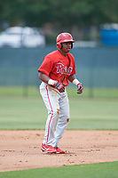 Philadelphia Phillies Adron Chambers (56) during a Minor League Extended Spring Training game against the Atlanta Braves on April 20, 2018 at Carpenter Complex in Clearwater, Florida.  (Mike Janes/Four Seam Images)