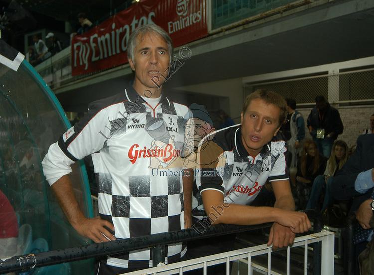 GIOVANNI MALAGO' E MATTEO CORDERO DI MONTEZEMOLO<br /> STADIO FLAMINIO ROMA 2004