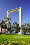 The Dubai Frame one of the sights the race will pass during Stage 6 of the 2021 UAE Tour running 165km from Deira Island to Palm Jumeirah, Dubai, UAE. 26th February 2021.  <br /> Picture: Eoin Clarke   Cyclefile<br /> <br /> All photos usage must carry mandatory copyright credit (© Cyclefile   Eoin Clarke)