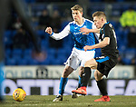 St Johnstone v Rangers…27.02.18…  McDiarmid Park    SPFL<br />David Wotherspoon and Greg Docherty<br />Picture by Graeme Hart. <br />Copyright Perthshire Picture Agency<br />Tel: 01738 623350  Mobile: 07990 594431