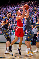 18 February 2018: Hartford University Hawk Guard Jason Dunne, a Junior from Matawan, NJ, in action against the University of Vermont Catamounts at Patrick Gymnasium in Burlington, Vermont. The Catamounts fell to the Hawks 69-68 in their America East Conference matchup. Mandatory Credit: Ed Wolfstein Photo *** RAW (NEF) Image File Available ***