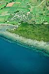 Aerial view of the coast south of Nadi near Momi Bay, Fiji Islands