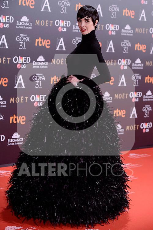 Paz Vega attends to the Red Carpet of the Goya Awards 2017 at Madrid Marriott Auditorium Hotel in Madrid, Spain. February 04, 2017. (ALTERPHOTOS/BorjaB.Hojas)