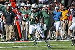 Baylor Bears running back John Lovett (7) in action during the game between the OSU Cowboys and the Baylor Bears at the McLane Stadium in Waco, Texas.