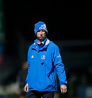 16th November 2020; RDS Arena, Dublin, Leinster, Ireland; Guinness Pro 14 Rugby, Leinster versus Edinburgh; Leo Cullen Leinster head coach watches his his squad warmup prior to kickoff