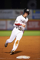 Tri-City ValleyCats outfielder Johnny Sewald (33) running the bases during a game against the Brooklyn Cyclones on September 1, 2015 at Joseph L. Bruno Stadium in Troy, New York.  Tri-City defeated Brooklyn 5-4.  (Mike Janes/Four Seam Images)