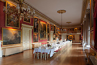The grand ballroom and banqueting hall is often used for large celebratory events. It's crimson walls are hung with portraits of the royal family