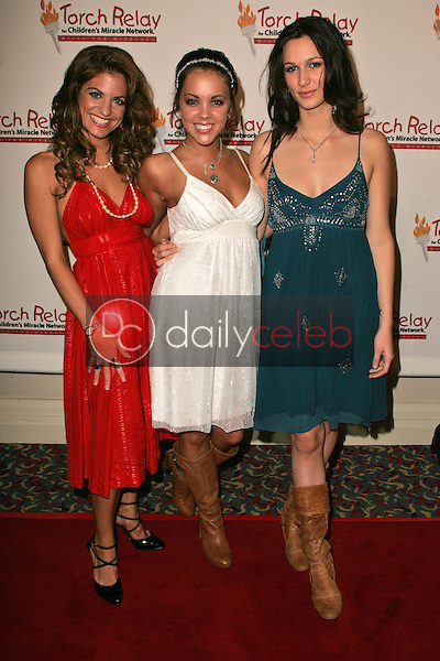 Bridgetta Tomarchio, Kaci Brown and Angel Carter<br /> at the Children's Miracle Network Torch Relay Celebration, Renaissance Hotel, Hollywood, CA 11-19-06<br /> <br /> David Edwards/DailyCeleb.Com 818-249-4998