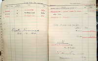 BNPS.co.uk (01202 558833)<br /> Pic: BeechAuctions/BNPS<br /> <br /> McGuire's log book completed by by C/O - 'Death presumed - 24/12/44'<br /> <br /> Sold for £700, after being rescued from a waste bin - the tragic tale of a doomed Lancaster crew - shot down on its last mission over Germany, on Christmas Eve 1944, the pilots 21st birthday...<br /> <br /> The poignant archive belonged to the family of Flt Sgt Ernest McGuire, wireless operator on the doomed Lancaster Bomber ND388 that set off on Christmas eve 1944.<br /> <br /> The aircraft was due to fly to it's 30th and final operation in Cologne from RAF Grimsby but never made it to its destination.