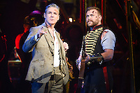 """Michael Praed and Daniel Bedingfield<br /> in the musical of """"The War of the Worlds"""" at the Dominion Theatre, London.<br /> <br /> <br /> ©Ash Knotek  D3083 12/02/2016"""