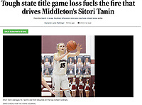 Middleton's Sitori Tanin passes in the fist period, as Sun Prairie takes on Middleton in Wisconsin WIAA Big Eight Conference girls high school basketball on Thursday, Feb. 20, 2020 at Middleton High School | Wisconsin State Journal article front page Sports 3/5/20 and online at https://madison.com/wsj/sports/high-school/basketball/girls/tough-state-title-game-loss-fuels-the-fire-that-drives/article_5b8e0c16-af85-50c7-930e-faef5c0c40ca.html