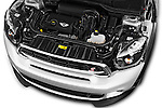Car Stock 2016 MINI Countryman Cooper-S 5 Door Hatchback Engine  high angle detail view