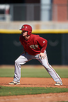Arizona Diamondbacks Tyler Baker (5) during an instructional league game against the Los Angeles Angels / Chicago Cubs co-op team on October 9, 2015 at the Tempe Diablo Stadium Complex in Tempe, Arizona.  (Mike Janes/Four Seam Images)