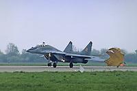 """- Aviazione Polacca, 1o reggimento caccia intercettori """"Warsavia"""", aereo Mig 29  di costruzione Sovietica<br /> <br /> - Polish aviation, 1st fighter interceptor regiment """"Warsaw"""",  Soviet-built Mig 29 aircraft"""
