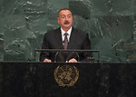 72 General Debate – 20 September <br /> <br /> <br /> <br /> His Excellency Ilham Heydar oglu Aliyev, President of the Republic of Azerbaijan
