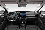 Stock photo of straight dashboard view of 2020 Hyundai Ioniq-Plug-In-Hybrid Shine 5 Door Hatchback Dashboard