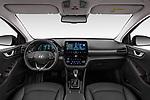 Stock photo of straight dashboard view of 2020 Hyundai Ioniq-Plug-In-Hybrid Shine 5 Door Hatchback Dashboard