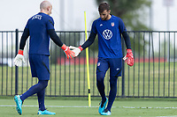 FRISCO, TX - JULY 20: Brad Guzan, Matt Turner of the United States during a training session at Toyota Soccer Center FC Dallas on July 20, 2021 in Frisco, Texas.
