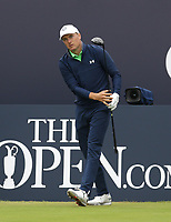 14th July 2021; The Royal St. George's Golf Club, Sandwich, Kent, England; The 149th Open Golf Championship, practice day; Jordan Speith (USA) on the tee at the 1st hole