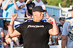 "Justin Shearer aka ""Big Chief"", from the Discovery Channel's hit TV series, Street Outlaws, has some fun racing his car,the Crow during the first annual Outlaw Armageddon drag race at the Thunder Valley Raceway drag strip in Noble, OK."