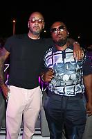 MIAMI, FL -MAY 1: Swizz Beatz and Timbaland at Trillerfest Miami at Miami Marine Stadium on May 1, 2021. Credit: Walik Goshorn/MediaPunch