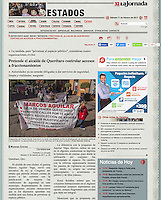 La Jornada, sección Estados.<br /> http://www.jornada.unam.mx/2017/02/11/estados/023n1est