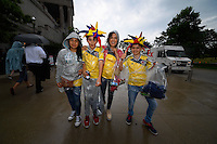 Chicago, IL - Wednesday June 22, 2016: Fans prior to a Copa America Centenario semifinal match between Colombia (COL) and Chile (CHI) at Soldier Field.