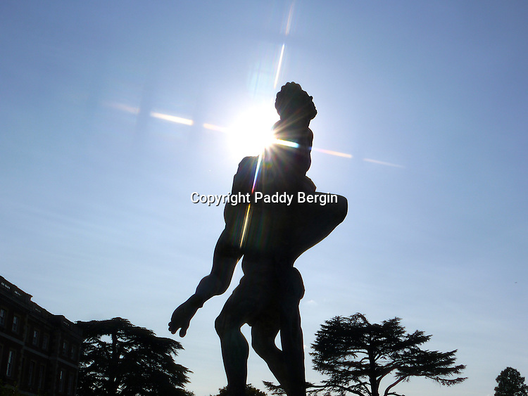 One of many priceless Renaissance statues in the grounds of Middlesex University Trent Park campus.<br /> <br /> Stock Photo by Paddy Bergin