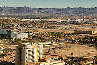 Las Vegas, Nevada.   McCarran International Airport and Las Vegas Valley as seen from the High Roller, World's Tallest Observation Wheel as of 2015.