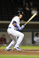 Mesa Solar Sox outfielder Jacob Hannemann (17) during an Arizona Fall League game against the Peoria Javelinas on October 16, 2014 at Cubs Park in Mesa, Arizona.  Mesa defeated Peoria 6-2.  (Mike Janes/Four Seam Images)
