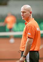 17-9-08, Netherlands, Apeldoorn, Tennis, Daviscup NL-Zuid Korea, Rohan Goetzke