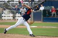 June 1, 2008: Tacoma Rainiers' Joe Woerman toes the rubber during a Pacific Coast League game against the Salt Lake Bees at Cheney Stadium in Tacoma, Washington.