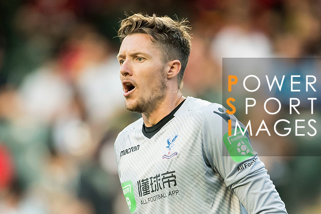 Crystal Palace goalkeeper Wayne Hennessey reacts during the Premier League Asia Trophy match between West Bromwich Albion and Crystal Palace at Hong Kong Stadium on 22 July 2017, in Hong Kong, China. Photo by Weixiang Lim / Power Sport Images