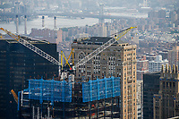USA, New York City, Manhattan Skyline, construction site