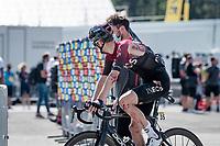 Pavel Sivakov (RUS/Ineos) crashed in the race finale <br /> <br /> Stage 5: Megève to Megève (154km)<br /> 72st Critérium du Dauphiné 2020 (2.UWT)<br /> <br /> ©kramon