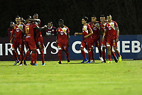 RIONEGRO- COLOMBIA, 21-05-2019: Jugadores de Rionegro Águilas Doradas (COL) celebran el gol anotado a Club Atlético Independiente (ARG), durante partido de ida de la segunda fase entre Rionegro Águilas Doradas (COL) y Club Atlético Independiente (ARG) por la Copa Conmebol Sudamericana 2019, jugado en el estadio Alberto Giraldo de la ciudad de Rionegro. / Players of Club Atletico Independiente (ARG), celebrate a goal scored to Club Atletico Independiente (ARG),  during a match of the first round of the second stage between Rionegro Aguilas Doradas (COL) and Club Atletico Independiente (ARG) for the Conmebol Sudamericana Cup 2019, played at Alberto Giraldo stadium in Rionegro city. Photo: VizzorImage / Fernando Agudelo / Cont.