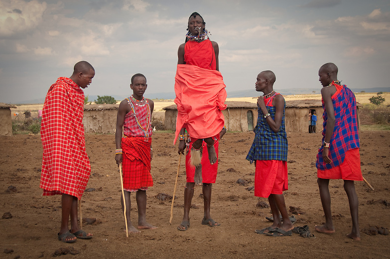 Dancing is an everyday activity among Maasai warriors, or morans. The springing jumps are a test of prowess. Whether jumping for the sake of fun or as a result of conquest of any sort it is a way of enhancing bond ship among the particular age group. Traditionally victorious morans, usually after a successful cattle rustling expedition celebrated with such dances.