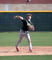 Garrett Cutting takes part in the 2020 Under Armour Pre-Season All-America Tournament at the Chicago Cubs training complex and Red Mountain baseball complex on January 18-19, 2020 in Mesa, Arizona (Bill Mitchell)