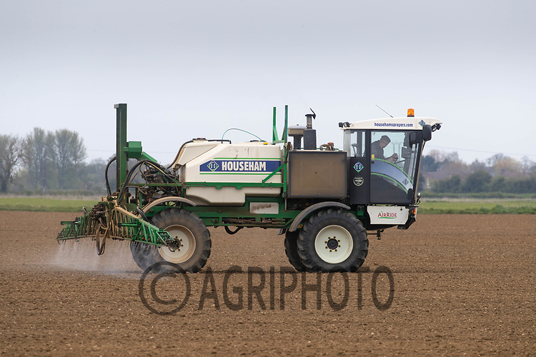 27-4-2021 Spraying newly emerged sugar beet plants <br /> ©Tim Scrivener Photographer 07850 303986<br />      ....Covering Agriculture In The UK....