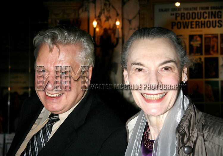 Brian Murray & Marian Seldes arriving for the Opening Night performance for the Roundabout Theatre Company's Production of THE RITZ at Studio 54 in New York City.<br />