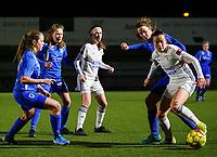 20.02.2020 OUD-HEVERLEE: OHL, Genk players are pictured in action during Belgian's Women's Super League match between Oud-Heverlee Leuven vs KRC Gent Ladies on Friday 20th February 2020, Stadion Oud-Heverlee, Oud-Heverlee, BELGIUM. PHOTO: SEVIL OKTEM