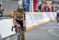 Wout van Aert (BEL/Jumbo-Visma) finishing 11th<br /> <br /> 64th E3 Classic 2021 (1.UWT)<br /> 1 day race from Harelbeke to Harelbeke (BEL/204km)<br /> <br /> ©kramon