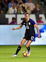 Carson, CA - November 13, 2016: The U.S. Women's National team take a 3-0 lead over Romania in an international friendly game at StubHub Center.