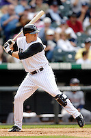 10 September 2006: Jeff Baker, infielder for the Colorado Rockies, in action against the Washington Nationals. The Rockies defeated the Nationals 13-9 at Coors Field in Denver, Colorado...Mandatory Photo Credit: Ed Wolfstein.