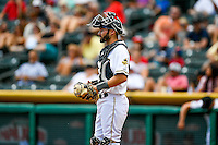 Anthony Bemboom (36) of the Salt Lake Bees during the game against the El Paso Chihuahuas in Pacific Coast League action at Smith's Ballpark on July 10, 2016 in Salt Lake City, Utah. El Paso defeated Salt Lake 11-2. (Stephen Smith/Four Seam Images)